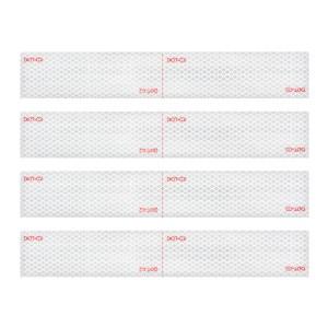 Premium Hi Viz DOT-C2 Conspicuity Tape in White 18″ Strips