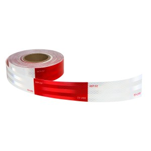 Premium Hi Viz DOT-C2 Conspicuity Tape in Red & White 150′ Roll