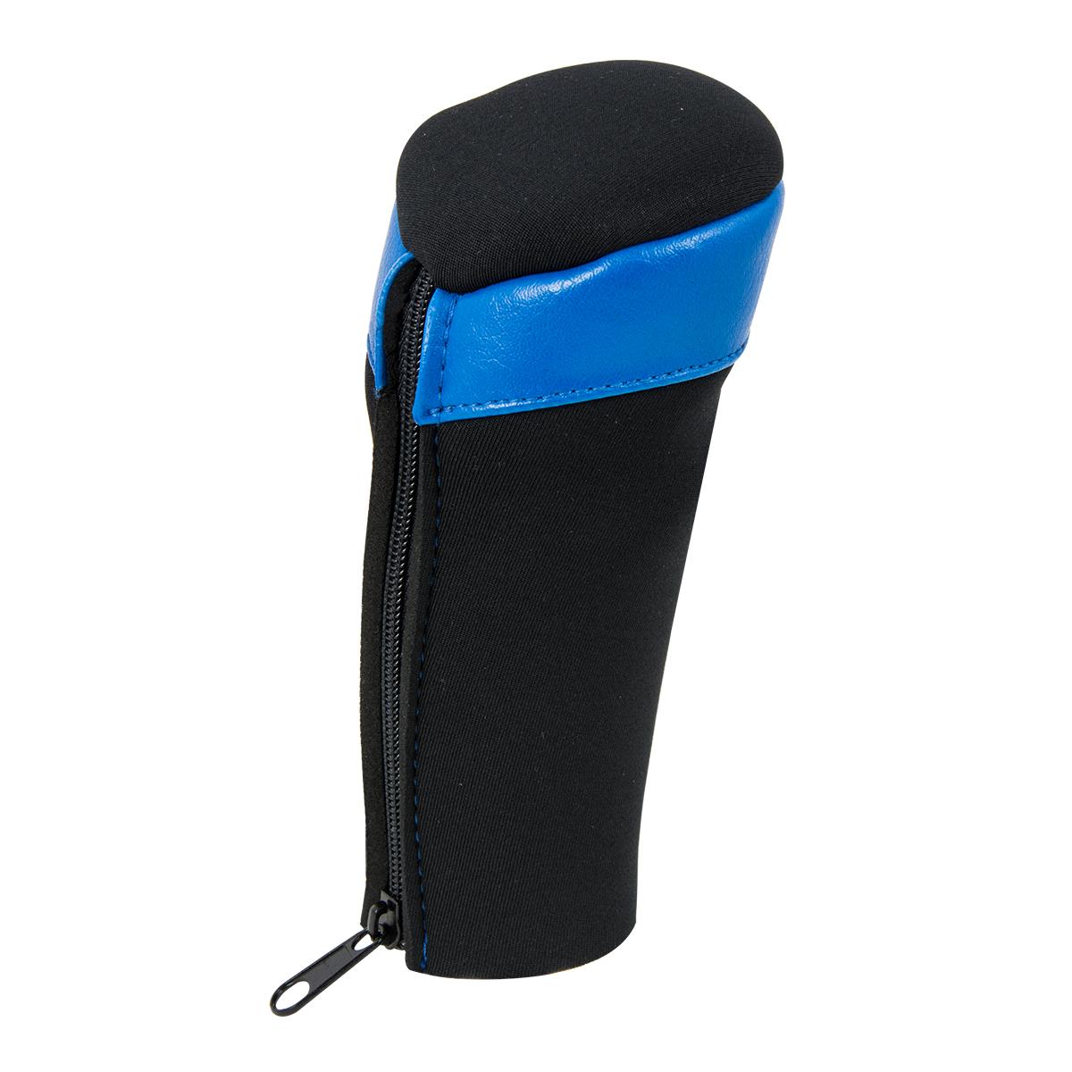 99871 Neoprene Black Gear Shift Knob Cover with Matte Blue Trim