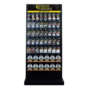 Grand General Black Metal Pegboard Floor Display Stand 26″ x 55″