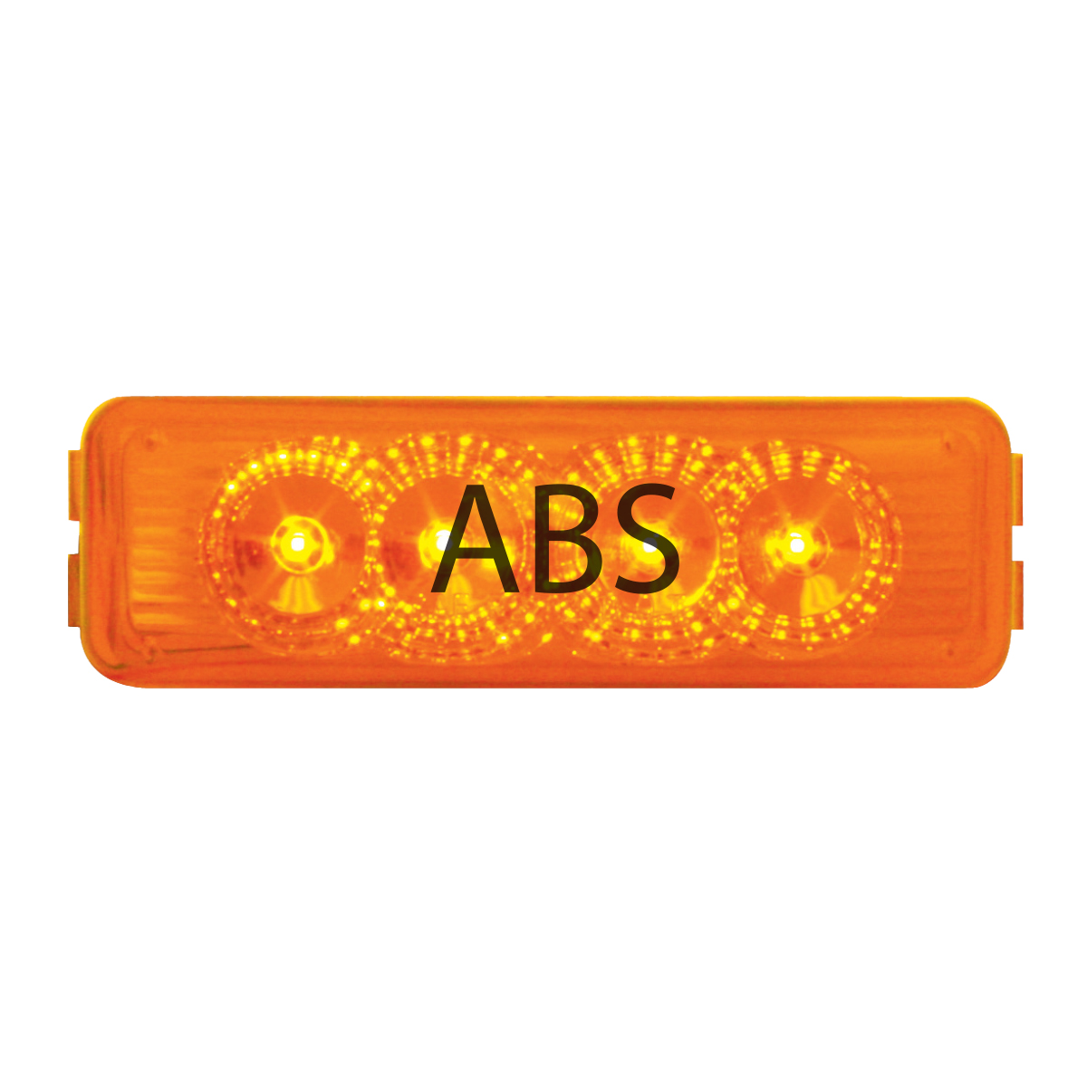 77964 ABS Logo Amber Medium Rectangular LED Marker Light
