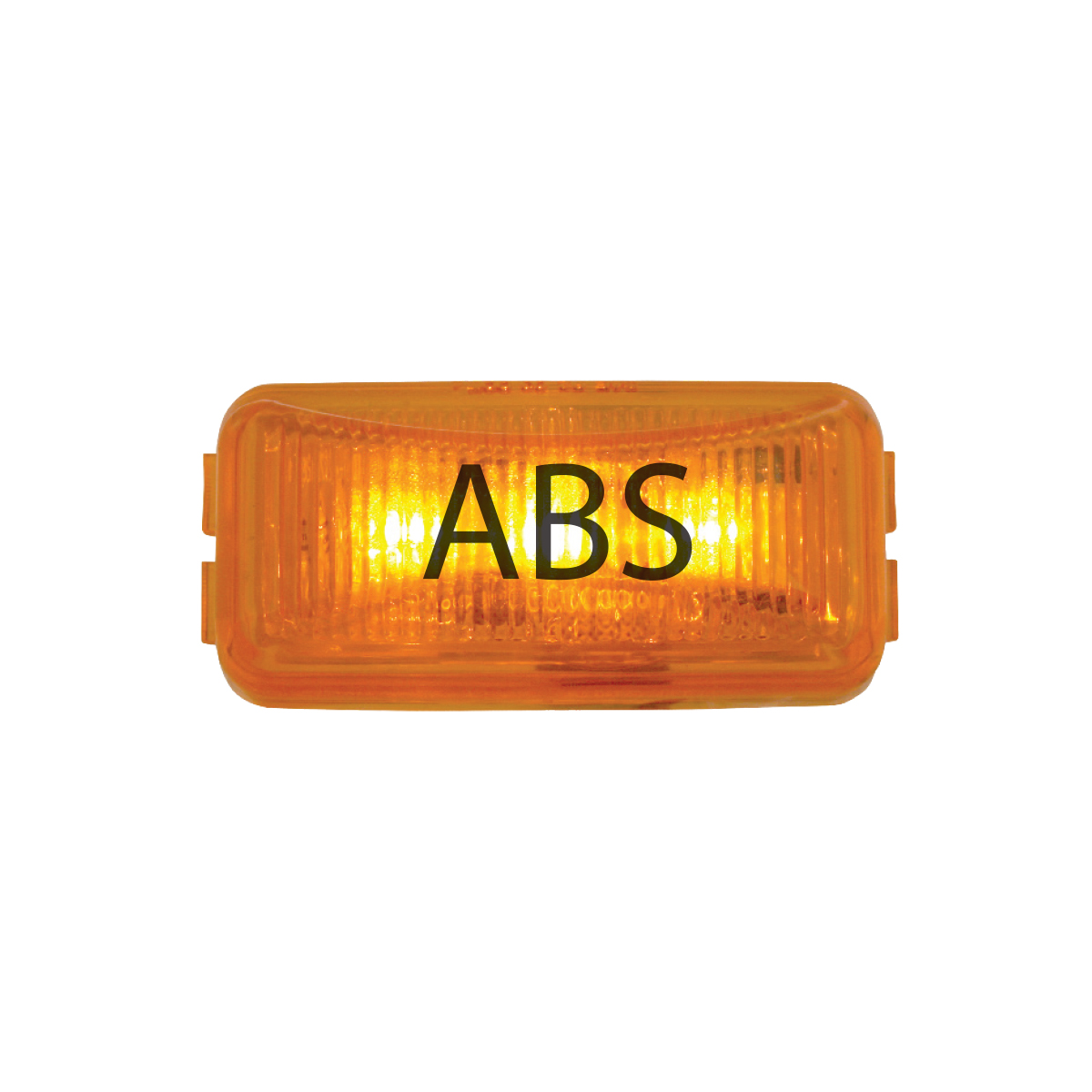 87641 ABS Logo Amber Small Rectangular LED Marker Lights