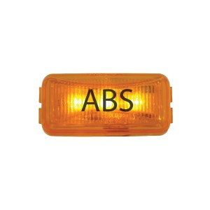 ABS Logo Amber Small Rectangular LED Marker Lights