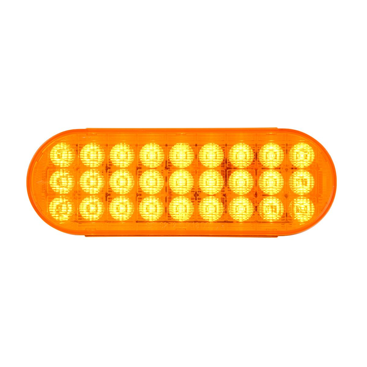 Grand General Oval Highway White//Clear 6 LED Sealed Light
