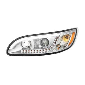 Peterbilt 386/387 Headlight with white high power LED position/daytime running and turn signal light