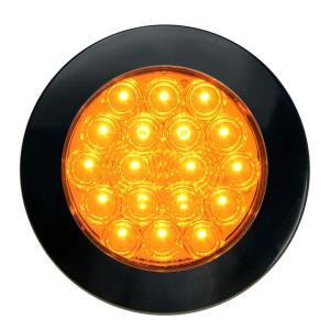 4″ Fleet Flange Mount LED Light with Black Twist & Lock Bezel 3-Pin