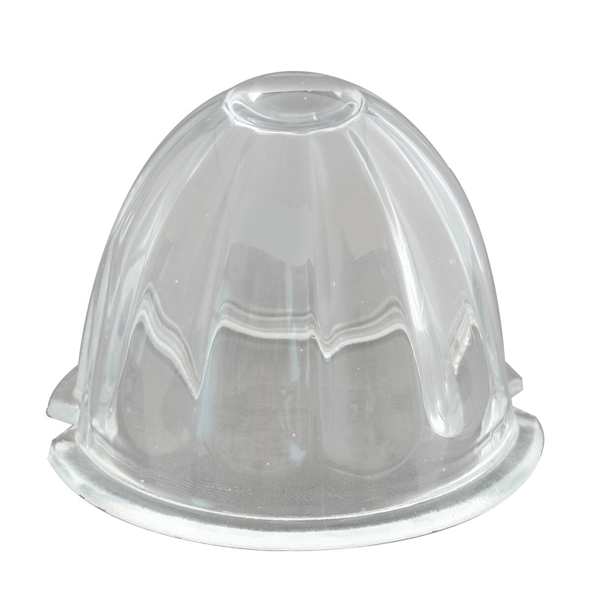 """3.5"""" Watermelon Style Glass Lens - Clear"""