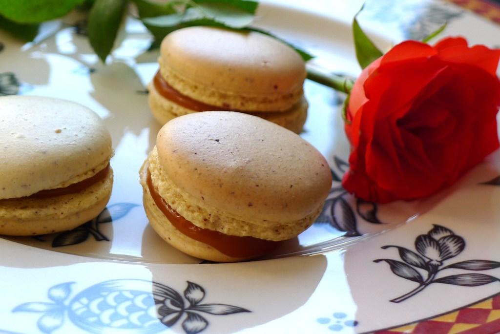Macarons mit Salzkaramell