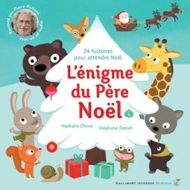 couverture du livre, l'énigme du père noel - 24 histoires pour attendre noel.