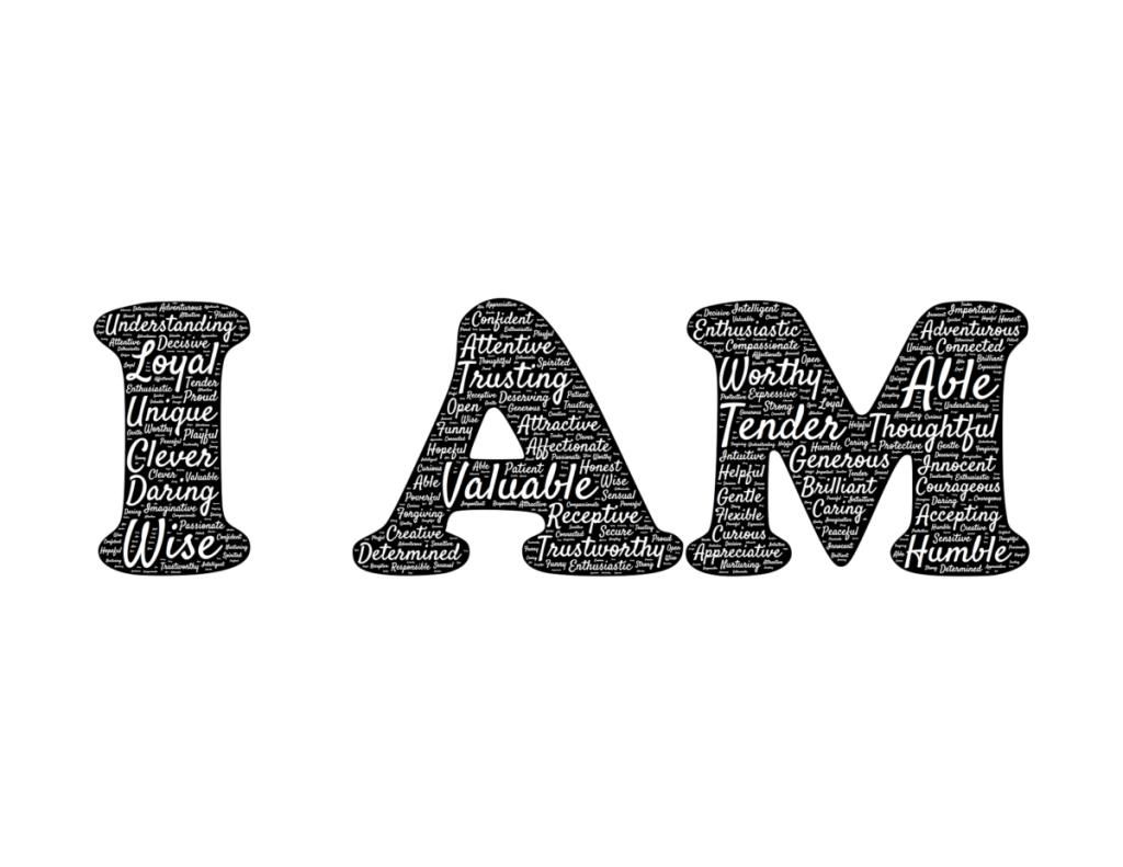 """La phrase """"I AM"""" en anglais"""