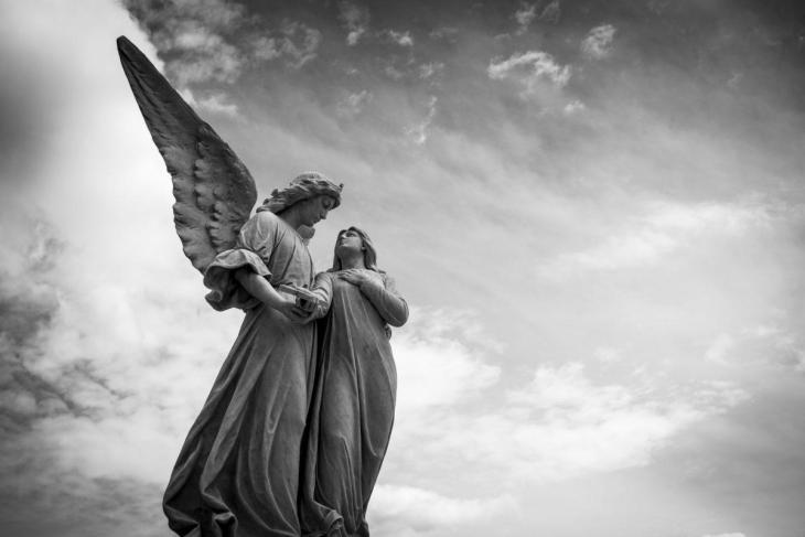 Un ange et un humain