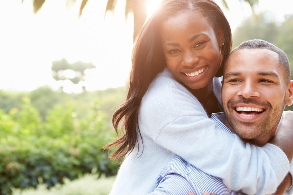 Un couple en joie