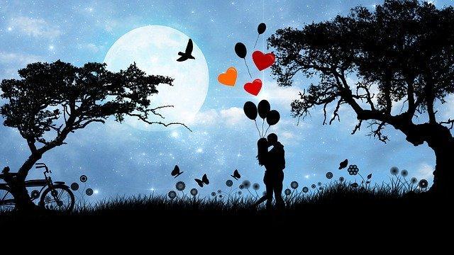 Deux amoureux au clair de lune