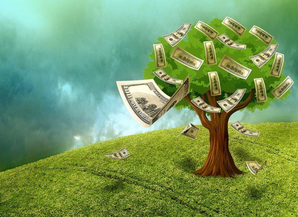 Un arbre produisant des fruits (argent) en abondance