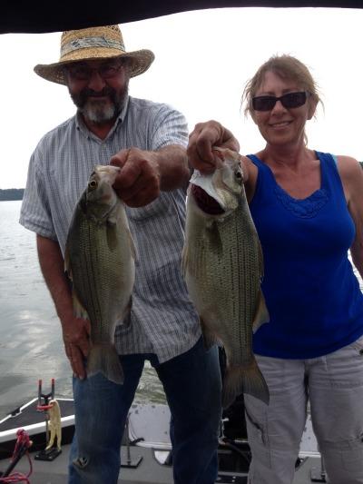 White bass fishing Grand Lake