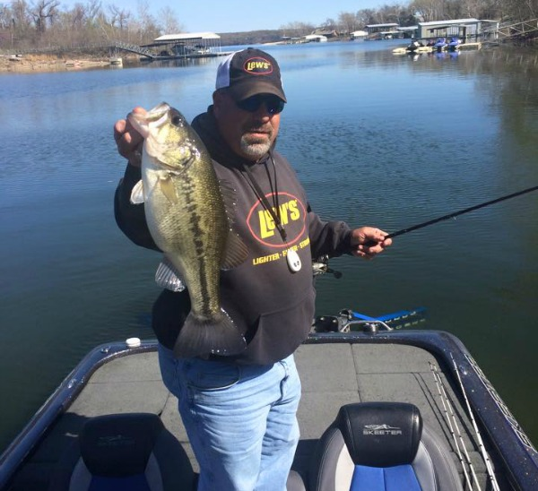 Bass fishing in April at Grand Lake OK