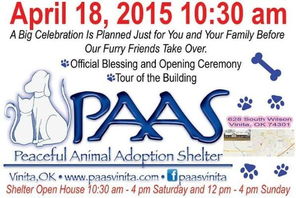 Peaceful Animal Adoption Shelter Vinita