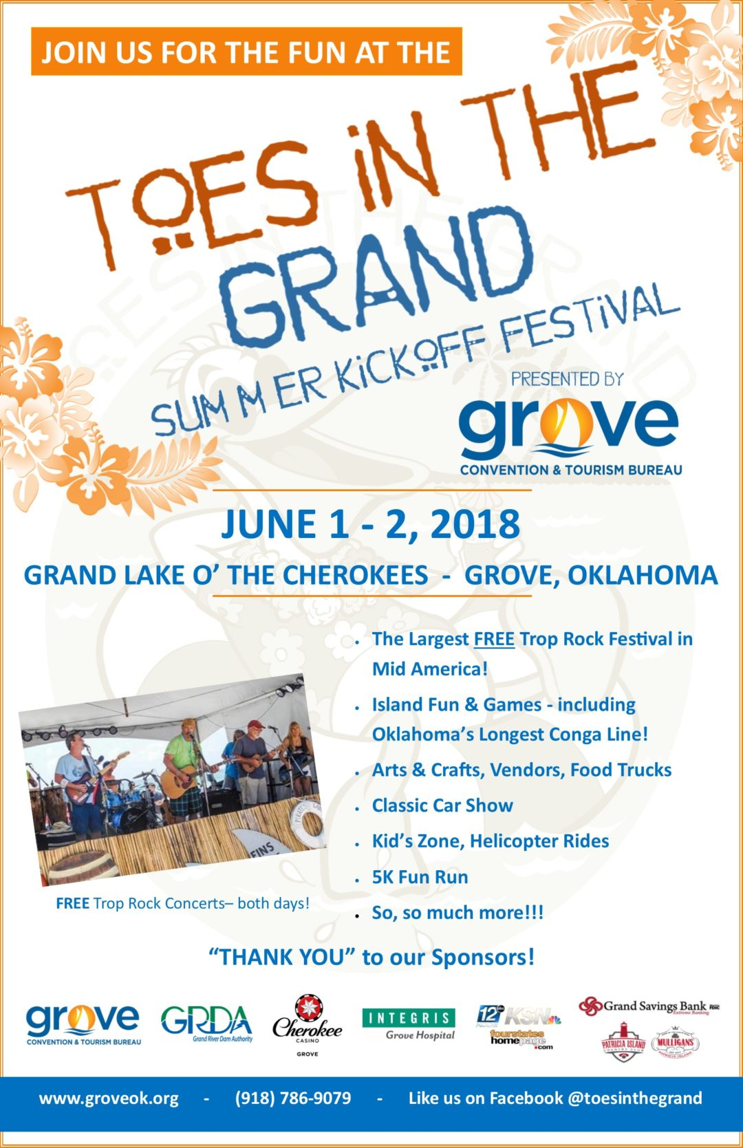 Toes in the Grand Festival Grand Lake OK
