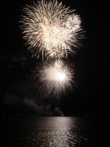 Grand Lake Fireworks - July 7, 2012