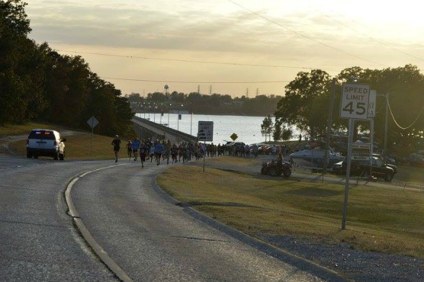 Sunset 5K Dam Run and Walk Disney OKlahoma