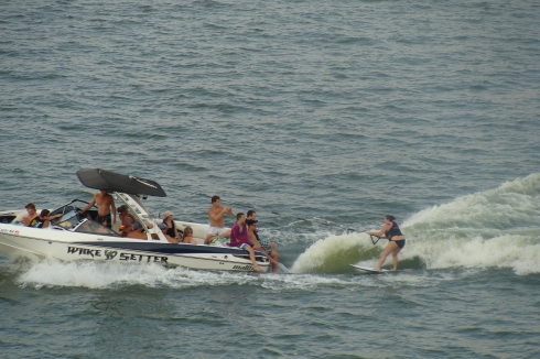 Grand Lake Oklahoma surfing