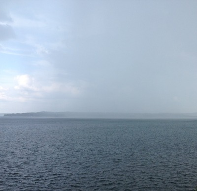Grand Lake rain shower