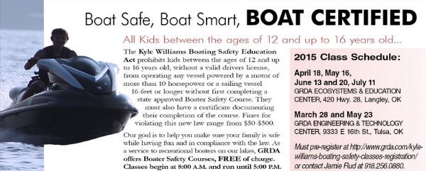 Boating Safety at Grand Lake Oklahoma