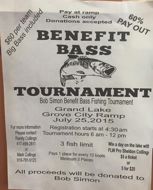 Benefit Bass Tournament Grand Lake