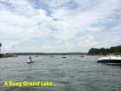 Boaters at Grand Lake Oklahoma