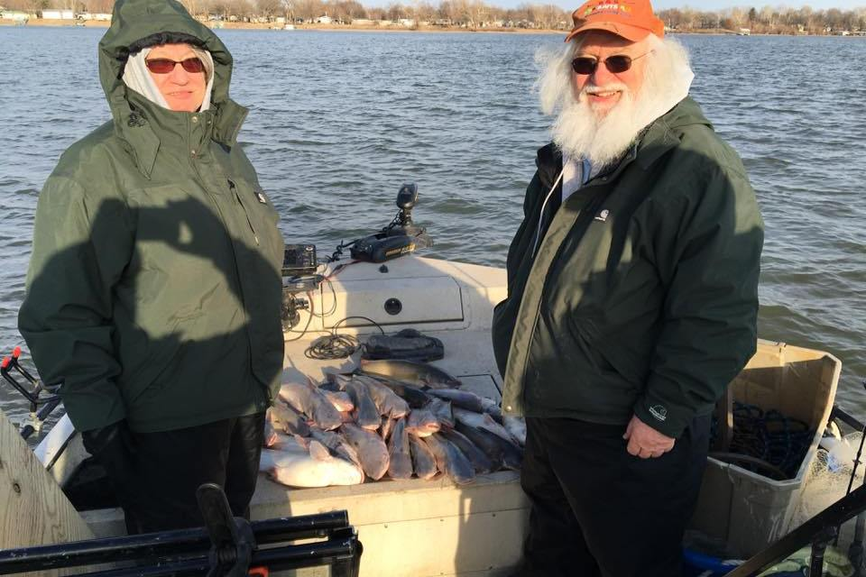 A Winter Day Catching Blue Cats on Grand Lake