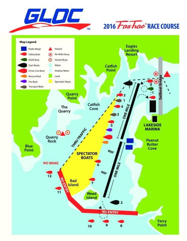 2016 GLOC Shootout Course Map