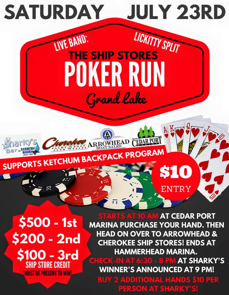 Ship stores poker run at Grand Lake