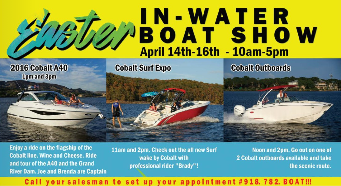 Easter in-water boat show Grand Lake 2017