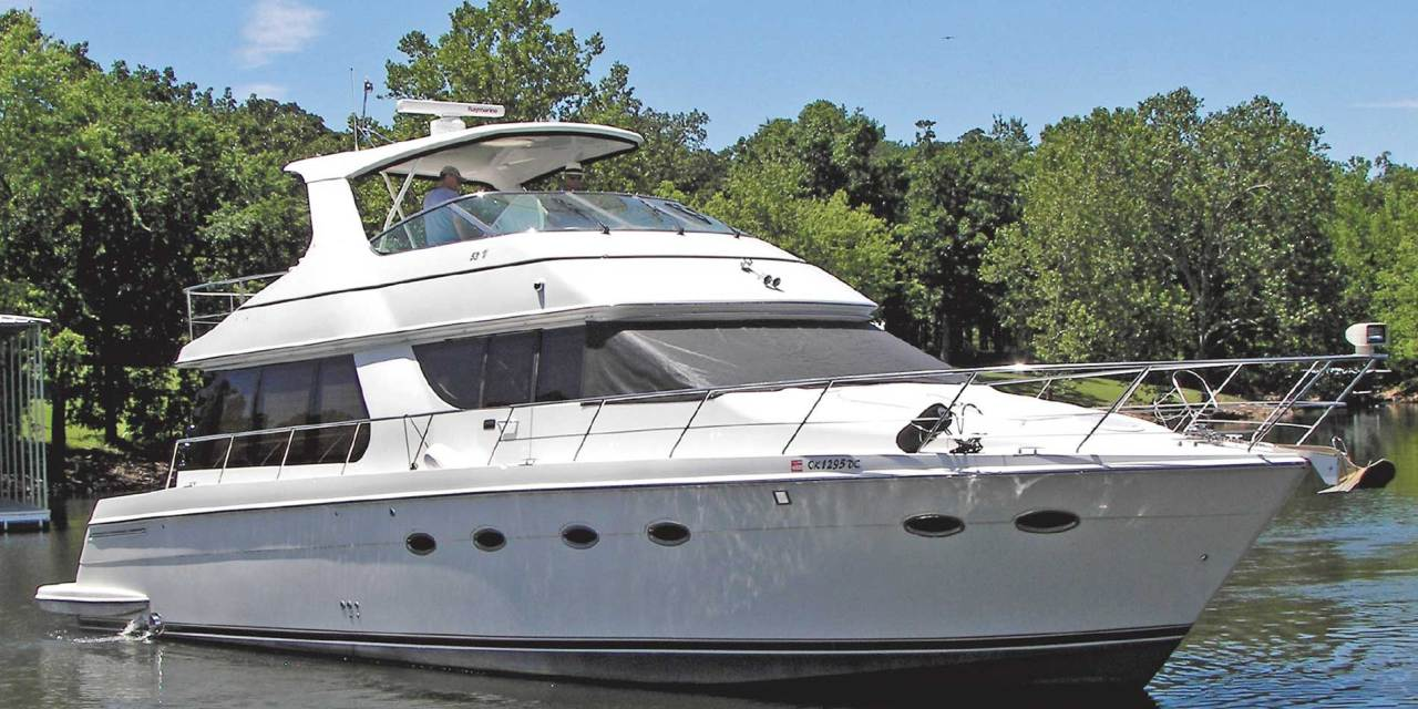 This 53′ Carver Will Make You A Happy Grand Lake Boater