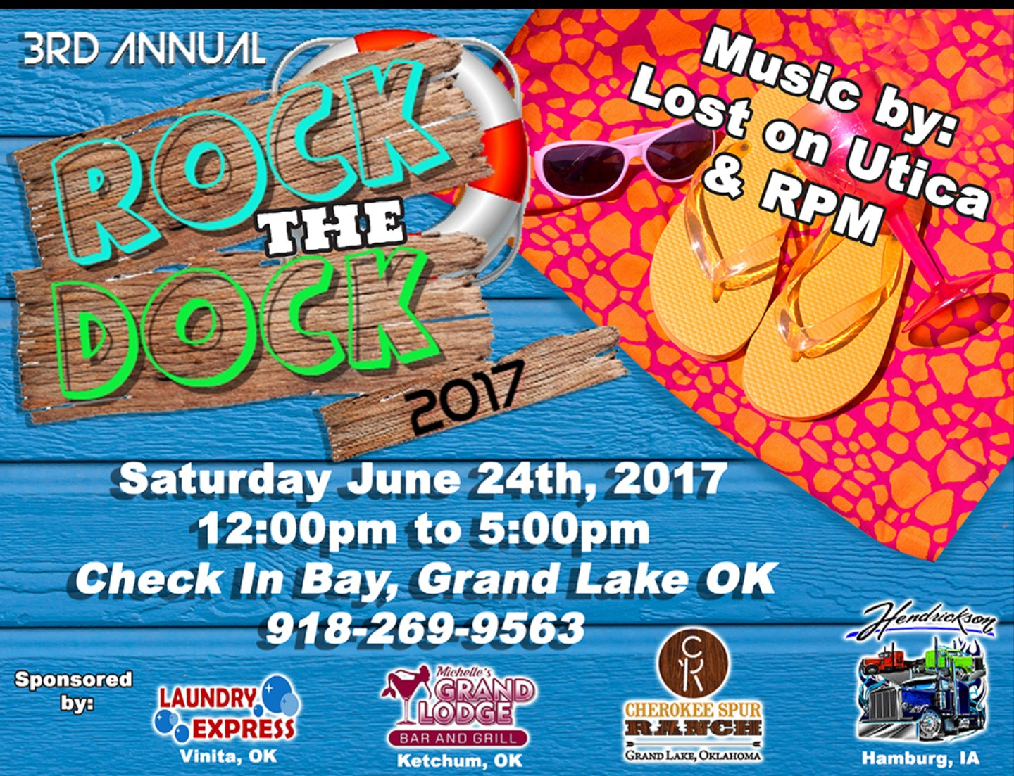 2017 Rock The Dock party at Grand Lake OK