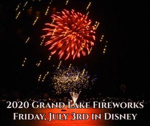 2020 Grand Lake Fireworks Disney OK