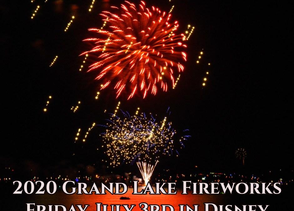 Grand Lake Fireworks 2020