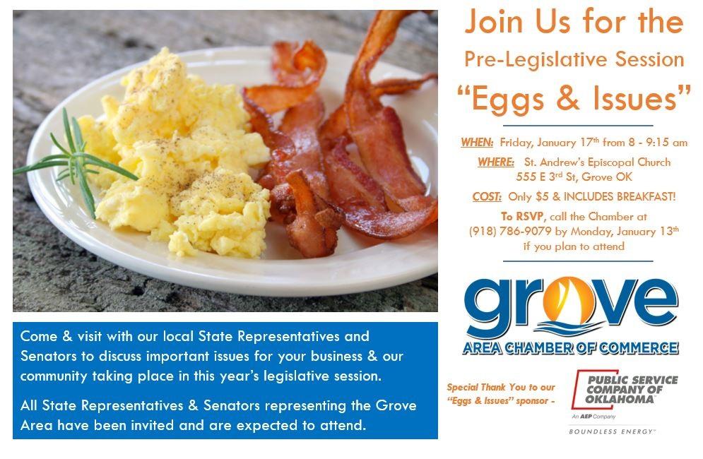 Eggs and Issues Grove OK Jan 2020