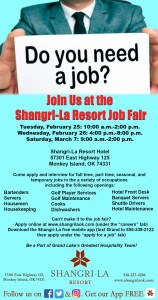 Job Fair at Shangri-La