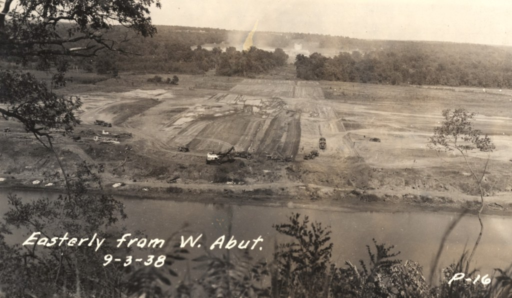 Pensacola Dam construction 1938