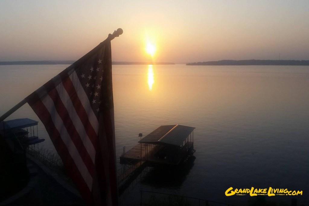 Patriotic Grand Lake Sunrise