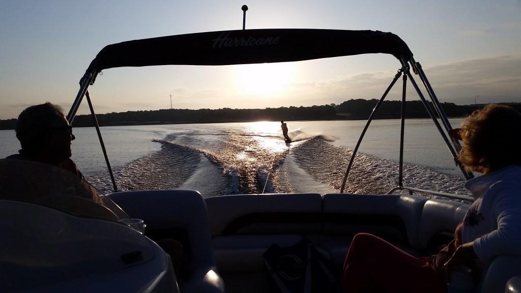 Sunrise wakeboarding
