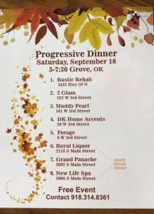 Rustic Rehab Progressive Dinner