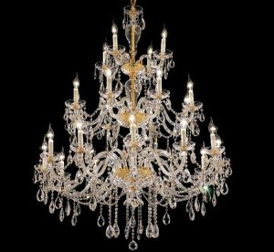 Alexandria Collection 24 Light Extra Large Crystal Chandelier