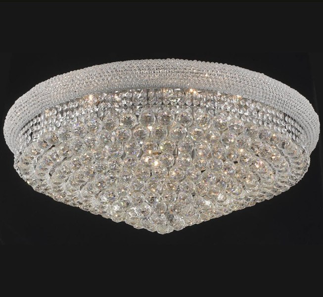 Primo Collection 36    Dia Extra Large Crystal Flush Mount Ceiling     Primo Collection 36    Dia Extra Large Crystal Flush Mount Ceiling Light