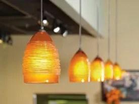 artisan hand blown glass lighting fixtures