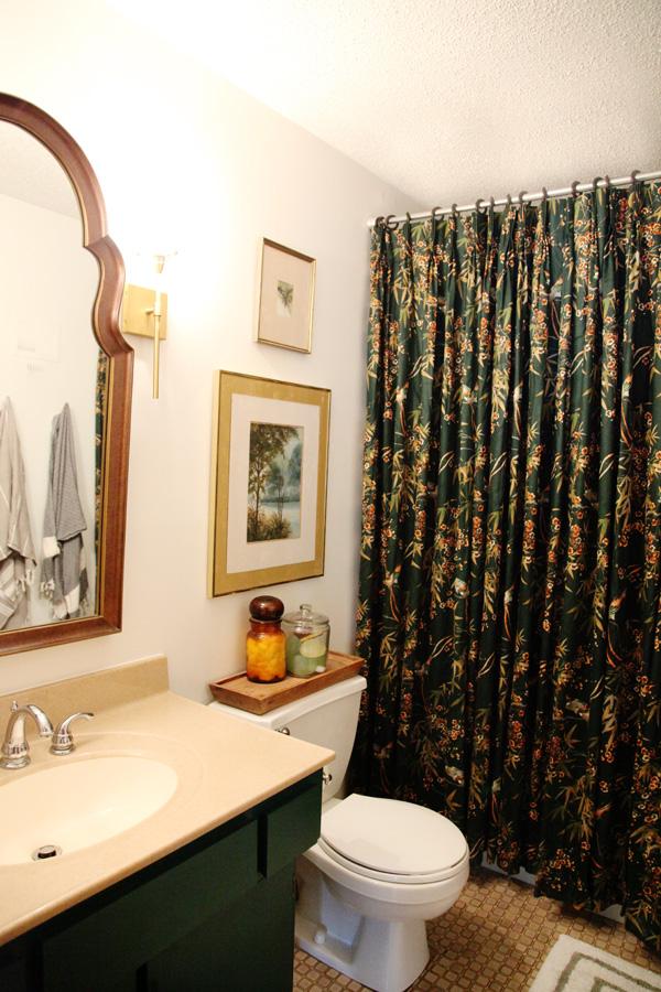 shower curtain update using drapery