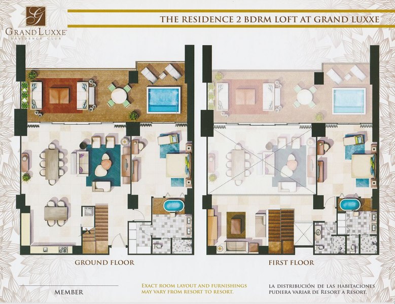 Floor Plans   Grand Luxxe Residence The Residence   2 Bedroom Loft at Grand Luxxe