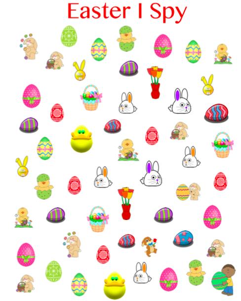 Easter I Spy Grandma Ideas