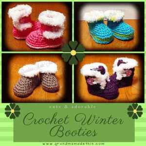 Crochet Winter Boot Booties